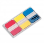 Set van 3 etuis van 22 index herplaatsbare STRONG POST-IT formaat 25 mm - klassieke kleuren