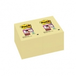 Blok herplaatsbaar POST-IT SUPER STICKY 656 formaat 48 x 76 mm - kanariegeel