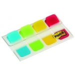 Set van 4 etuis van 10 index herplaatsbare STRONG POST-IT formaat 15,8 mm - turkoois/groen/geel/rood