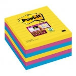 Pak 6 herplaatsbare blokken POST-IT SUPER STICKY XL 101x101mm gelijnd - Rio