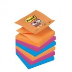 Pak 6 herplaatsbare blokken POST-IT Z-NOTES SUPER STICKY 76x76mm - BANGKOK