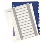 Tabblad PRINTBARE PROJECT LEITZ - POLYPRO STYLE - formaat A4 maxi - 12 tabs