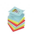 Pak 6 herplaatsbare blokken POST-IT Z-NOTES SUPER STICKY 76x76mm - MIAMI