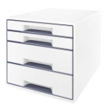 Ladenblok LEITZ DUAL WOW - 4 laden - grijs