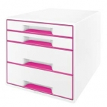 Ladenblok LEITZ DUAL WOW - 4 laden - roze