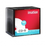 Doos van 10 CD'R IMATION JEWELCASE PRINTBAAR - 52X - 700 MB
